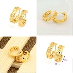 14*4mm 24k Yellow Gold Filled Hollow Out Flower